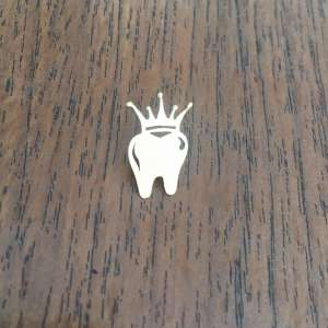 سنجاق سینه دندانی دندان تاج دار