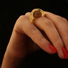 انگشتر ختایی و سنگ عقیق