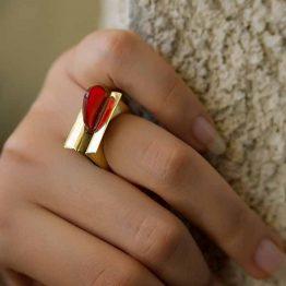 انگشتر عقیق در نقره