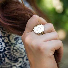 انگشتر گل ختایی