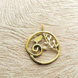 مدال پرنده بر شاخه