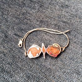 دستبند ترکیب چوب و نقره