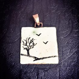 مدال میناکاری طرح درخت