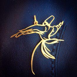 گردنبند دست ساز نقره رقص سما