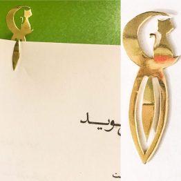 نشانک کتاب گربه دست ساز نقره