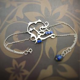 دستبند شیدا با سنگ لاجورد