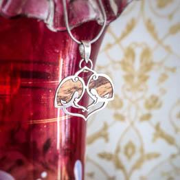 مدال چوب و نقره طرح اسلیمی